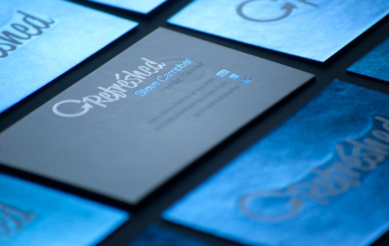 Refreshed Blue Foil Business Card