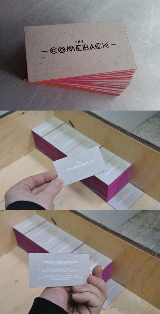 Cool Edge Painted Business Cards