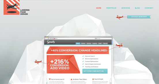 Iceberg Landing Page Design