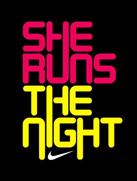 NIKE SHE RUNS | Fonts Inspirations | The Design Inspiration