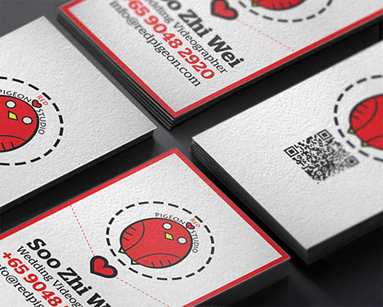 Red Pigeon Business Card