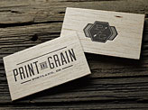 Letterpress Wood Business Cards