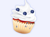 Blueberries Cupcake