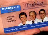 Custom Clear Business Card