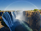 Full Rainbow Over The Victoria Falls