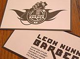 Leon Nunn Barber Business Card