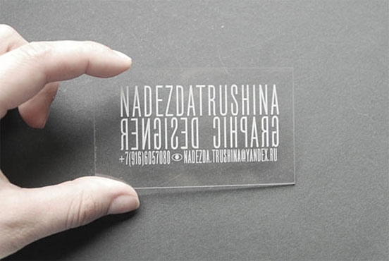 Nadezda Trushina Business Card