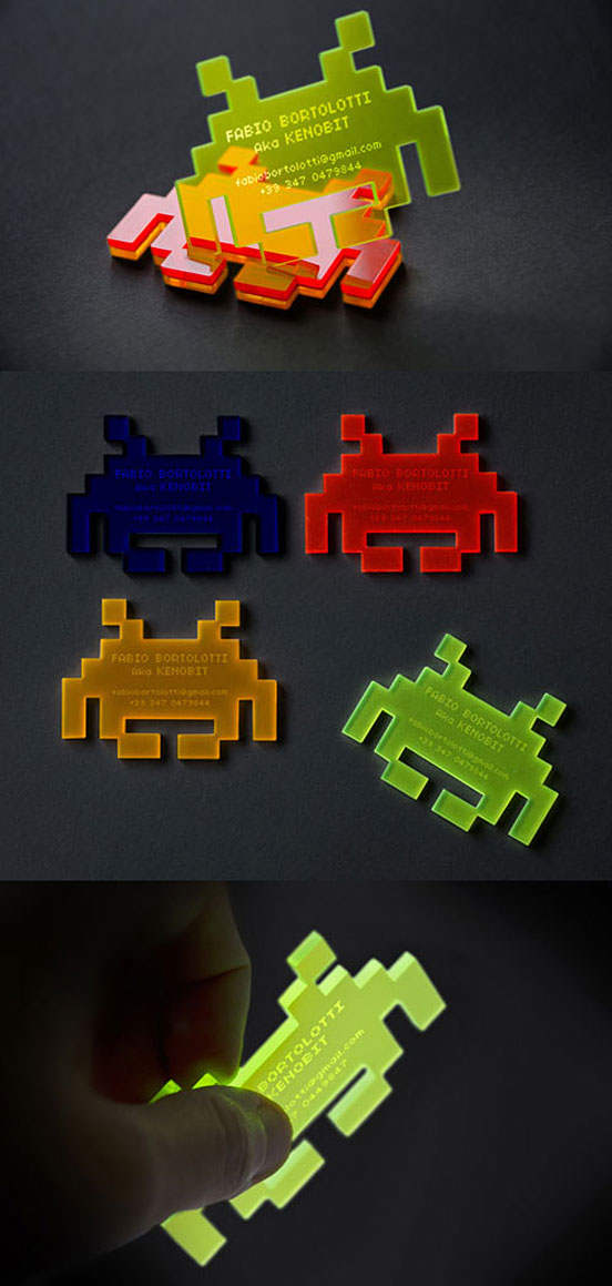 Space Invaders Business Card