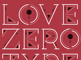 Love Zero Type Face