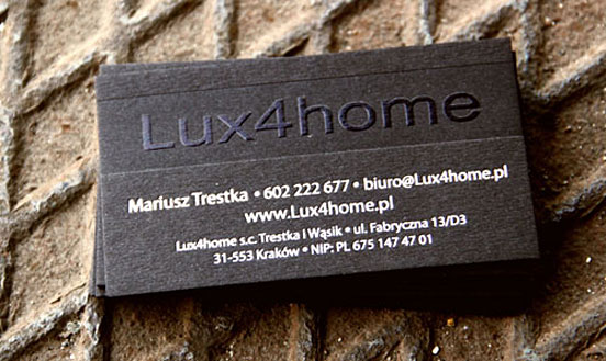 Lux4home Business Card