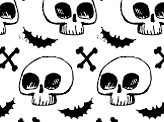 Hand Drawn Gruesome Skulls And Bones Pattern
