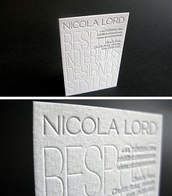 Letterpress Business Card For Interior Designer Business Cards The Design Inspiration