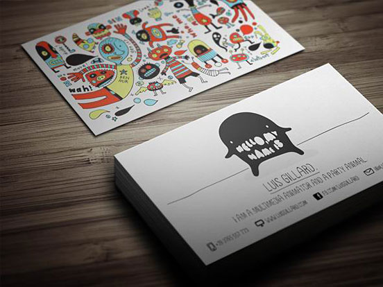 Multimedia Artist Business Card