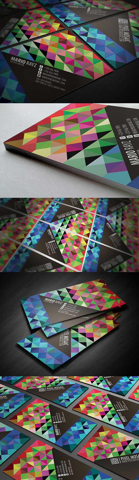 Pixel Mosaic Business Card