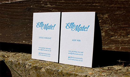 Ello Mate Business Card