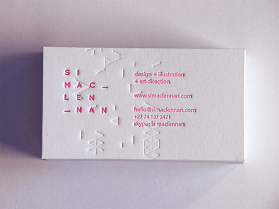 Si Maclennan Business Card