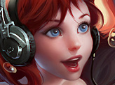 Ariel with Headphones