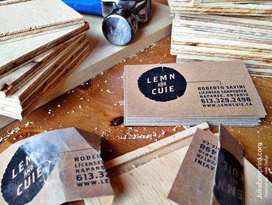 Sand Paper Business Card