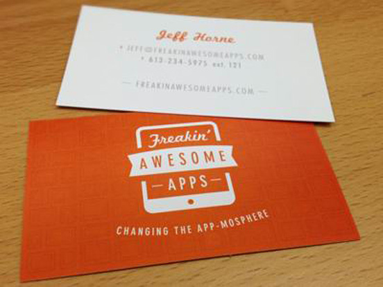 Freakin Awesome Apps Business Card