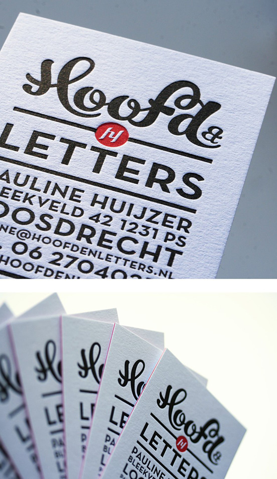 Hoofd&Letters Business cards