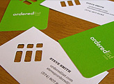 Ordered List Business Cards