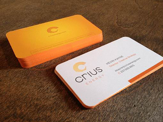 Cool Orange Business Cards