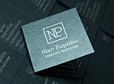 Metallic Paper Business Card