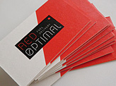 Red Optimal Business Cards