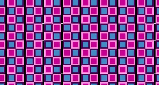 Pink Blue Squared Vibrant