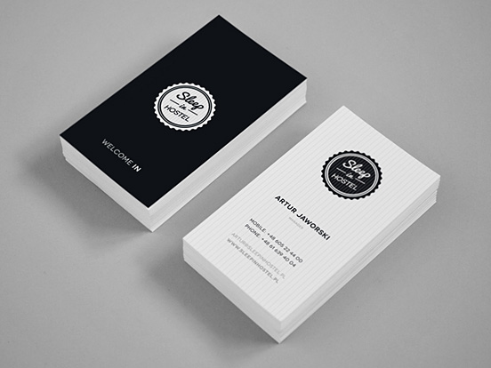 Sleep In Hostel Business Card