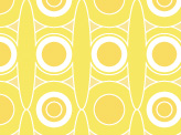 Yellow Retro Circles