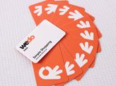 Orange & White Business Card