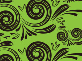 Swirly Floral Green