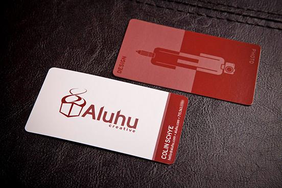 Aluhu Creative Business Cards