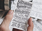 Americana Tattooing Letterpress