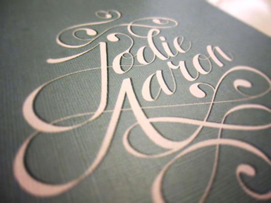 Jodie & Aaron Wedding Invitation