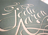 Jodie & Aaron Wedding Invitation
