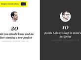Designers advices