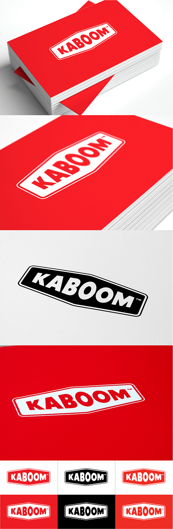 Kaboom Business Cards