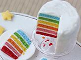 Bright Rainbow Cake