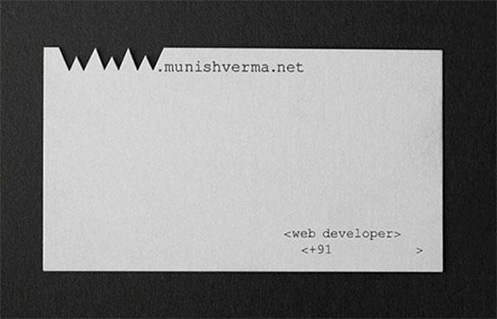 Munish Verma Business Card