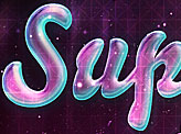 Glossy Neon Text Effect in Stars