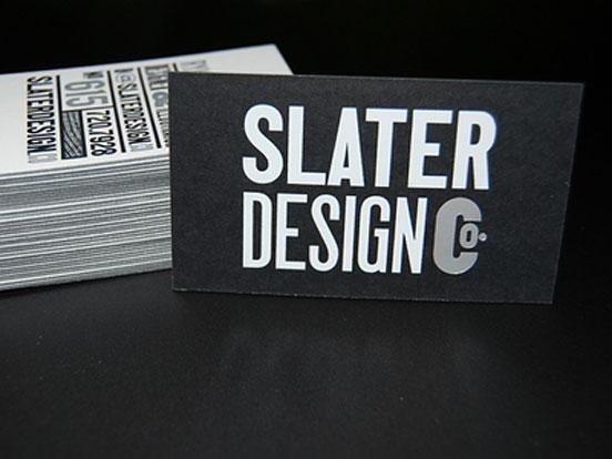 Slater Design Business Cards
