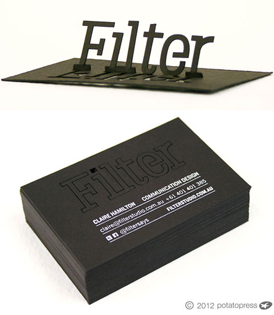 Amazing Laser Cut Pop Up Business Card