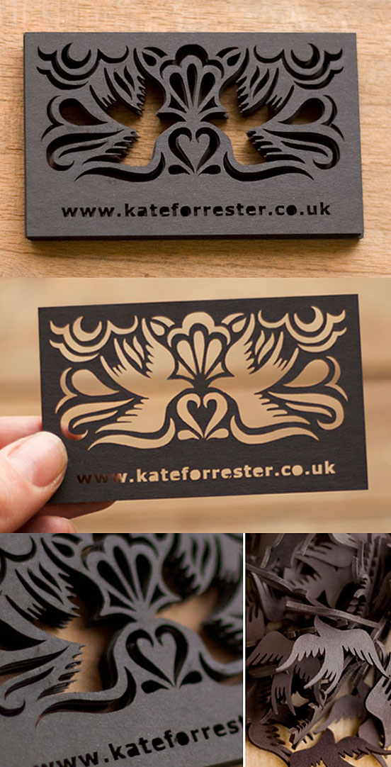 Beautiful Laser Cut Business Card