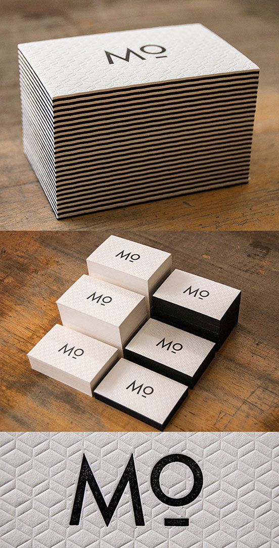 Unique Letterpress Business Card