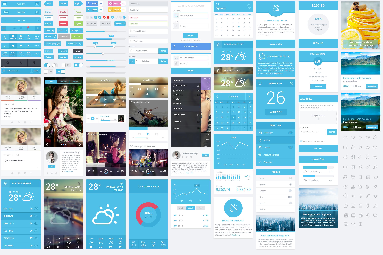 Flatastic Mobile UI Kit   The Design Inspiration