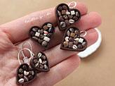 Chocolate Heart with Pralines Jewelry