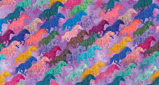 Horses Violet