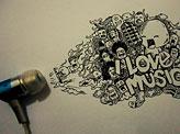 I LOVE MUSIC Doodle